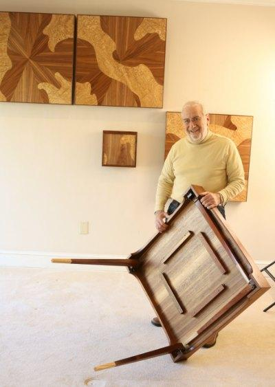 Wood Article - Abraham Tesser with Hanging Tables