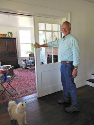 Retirement Home - Tom in living room