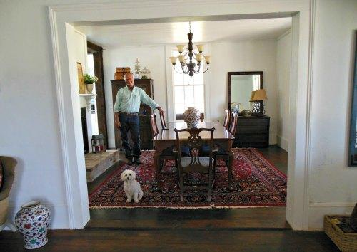 Retirement House - dining room with tom and dog