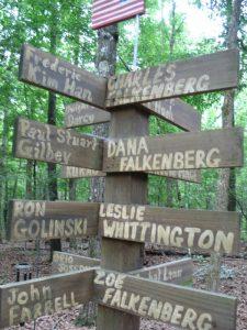 Commemorative post for the Falkenberg-Whittington family