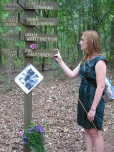 Traci Guest of Watkinsville read the names of her lost family members and others killed in the 9/11 attacks.