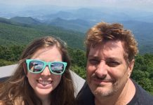 Alex and Mark McIntire Hiking Brasstown Bald