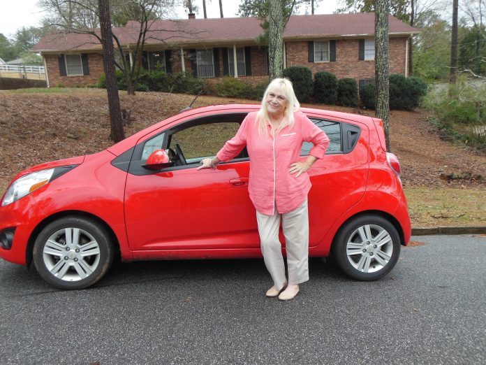 Sharon Carty pictured here is both a Lyft and Uber Driver