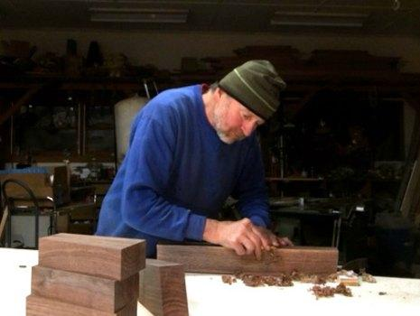 Wood Article - Peter Bull in Studio