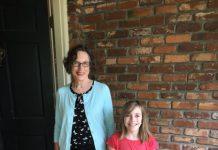 Diane Wahlers and grandchild Eliza Wahlers