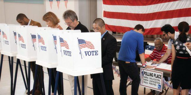 United States Voter Polling Place