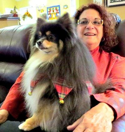 Aging Baby Boomer Female and Her Pet Dog