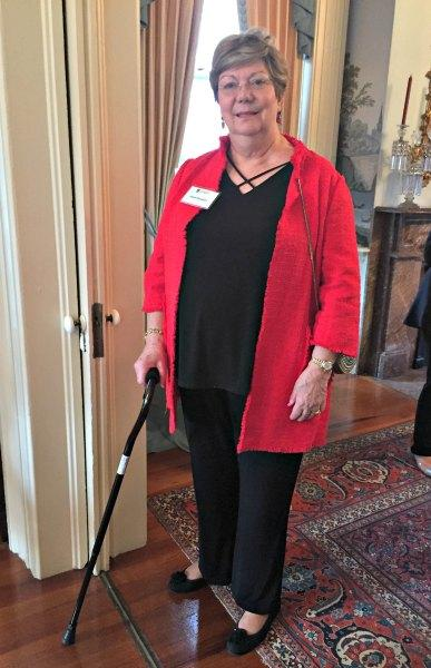 Baby Boomer Female Uses a Cane for Increased Mobility