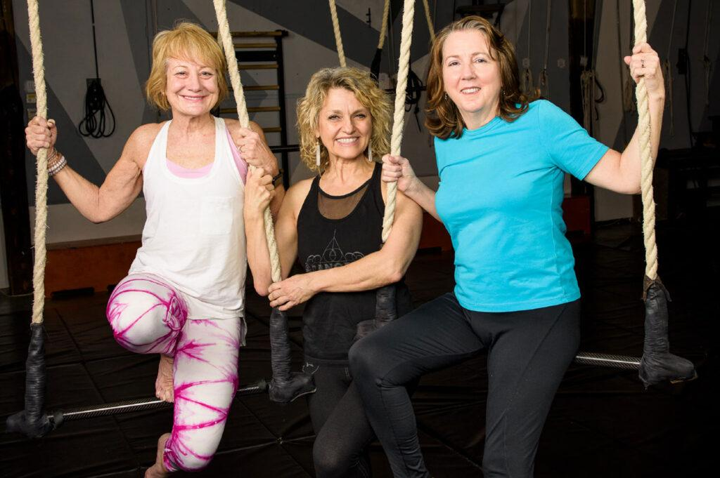 Active Over-50 Women Learn Trapeze