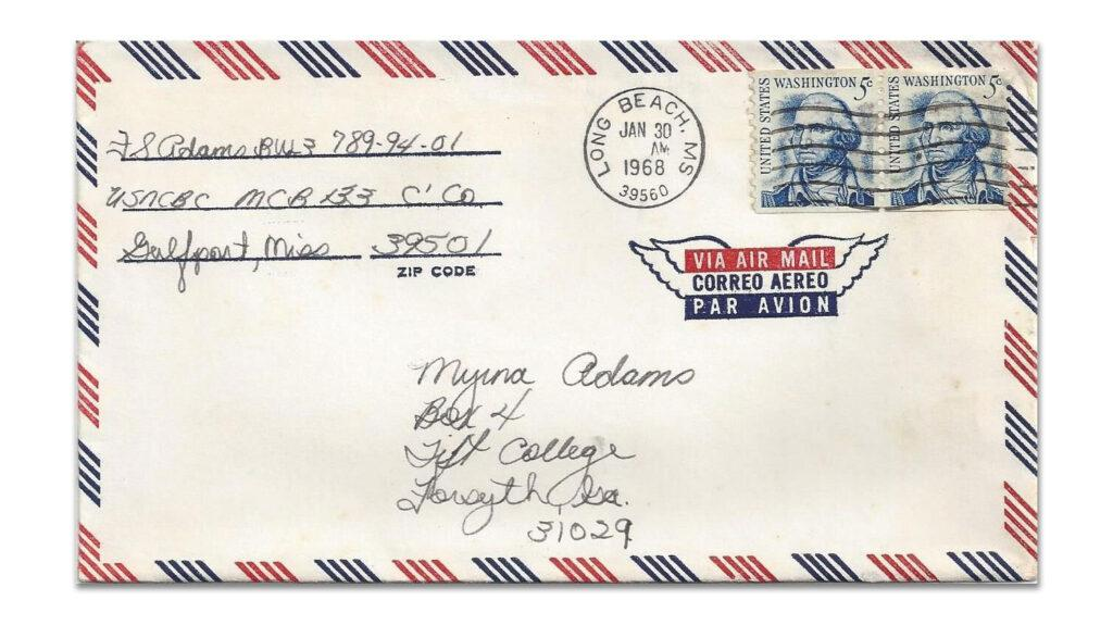Envelope Postmarked 1968 from Vietnam