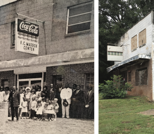 Maddox Center then and now