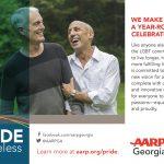 Summer 2019 AARP gay pride ad