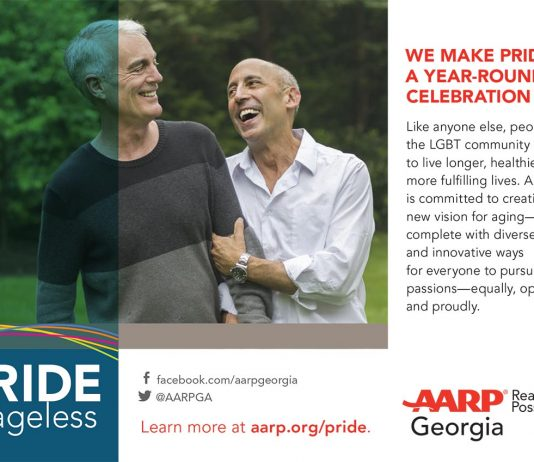 Summer 2019 AARP gay pride ad