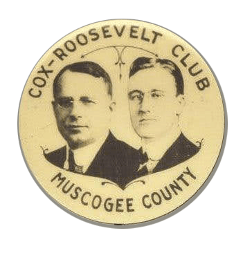 Cox-Roosevelt button
