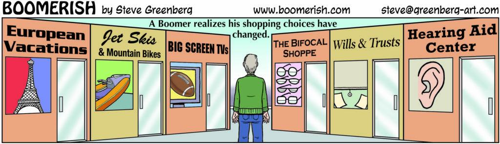 Boomerish Shopping Choices